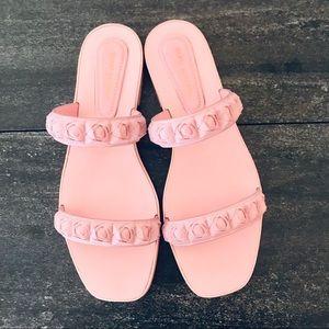 "NEW Stuart Weitzman ""Rosita"" Pink Sandals, 9.5"
